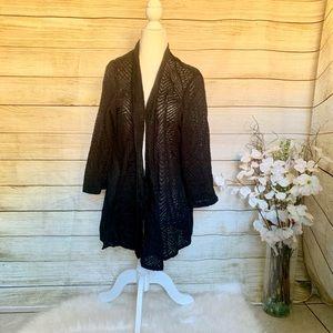 JM COLLECTION. black cardigan. Size 3X